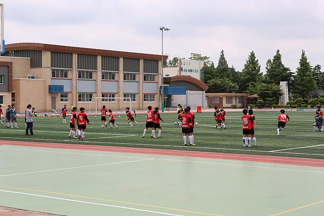 논산 강경여자중학교 축구부 전술 훈련하는 모습