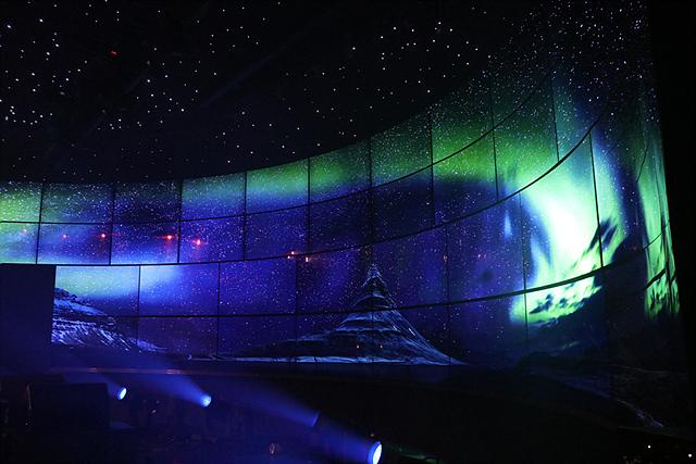 LG 올레드 오로라 콘서트 현장 모습입니다.