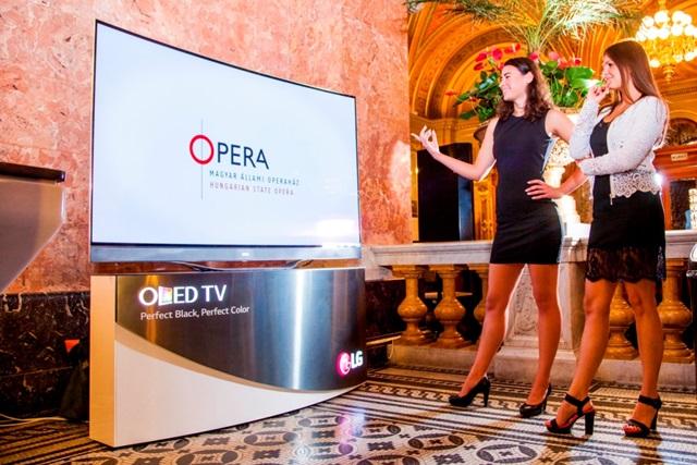 LG전자는 부다페스트에 위치한 헝가리국립오페라하우스(Magyar Állami Operaház)에 77형(모델명: 77EC98), 55형(모델명: 55EA98) LG 올레드 TV를 설치하고 유명 뮤지컬 '빌리 엘리엇(Billy Elliot)'을 소개하고 있다. 이번 공연에서 올레드 TV가 관람객들의 호응을 얻으면서 오페라하우스 측은 향후 공연하는 작품들도 LG 올레드 TV로 소개하기로 결정했다. 관람객들이 헝가리국립오페라하우스에 설치된 LG 올레드 TV를 살펴보고 있다.