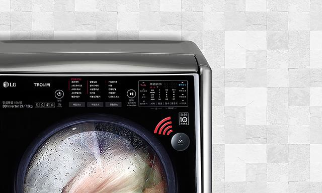 세탁기에 부착된 스마트씽큐 센서 이미지 모습