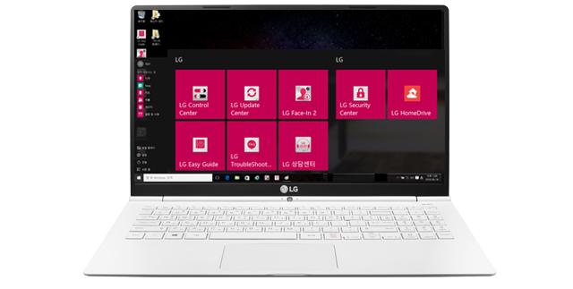 그램 15 PC 화면에 설치된 LG 상담센터 앱 이미지