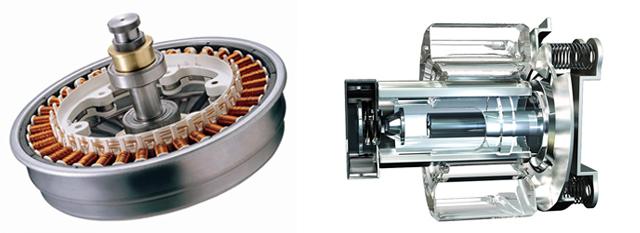세탁기용 DD모터(좌), 냉장고용 인버터 리니어 컴프레서(우)