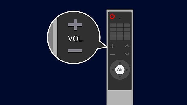 리모컨의 음량 버튼을 눌러 플레이어를 띄워놓을 수 있는 모습 소개