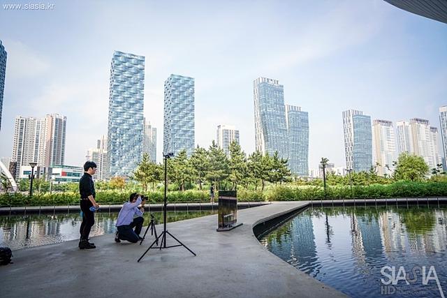 시그니처 올레드 TV 광고 촬영 모습