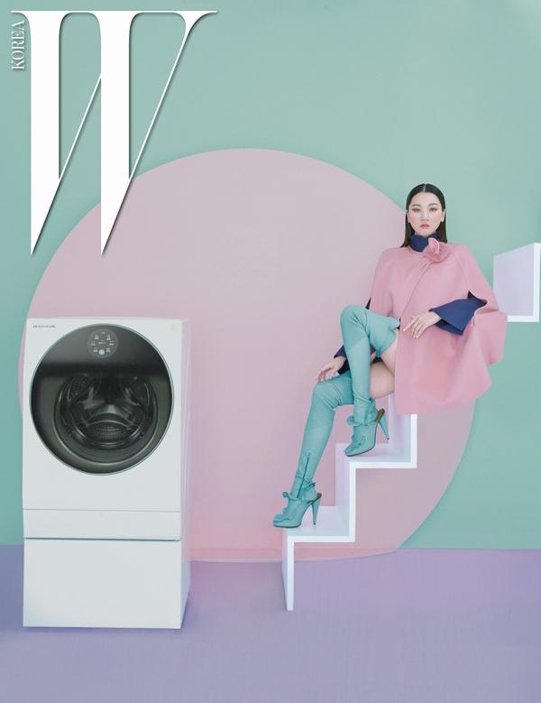 LG SIGNATURE 세탁기와 톱모델 장윤주가 함께한 화보 이미지
