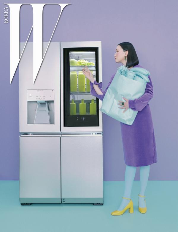 LG SIGNATURE 냉장고와 톱모델 장윤주가 함께한 화보 이미지