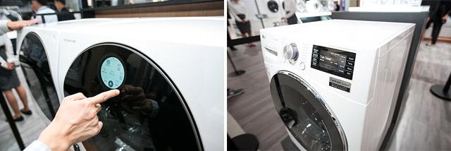 트윈워시 형태의 시그니처 세탁기는 물론 시그니처 디자인을 계승한 모델부터 건조기와 세탁기가 하나로 결합된 최상위 시그니처 모델들이 전시