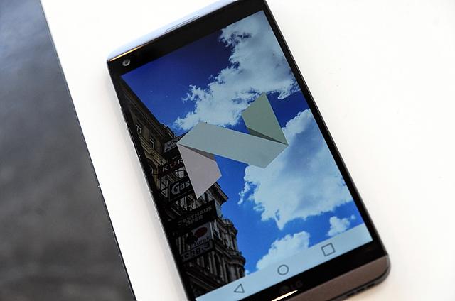 안드로이드 7.0 누가를 탑재한 세계 최초의 스마트폰이 바로 'LG V20