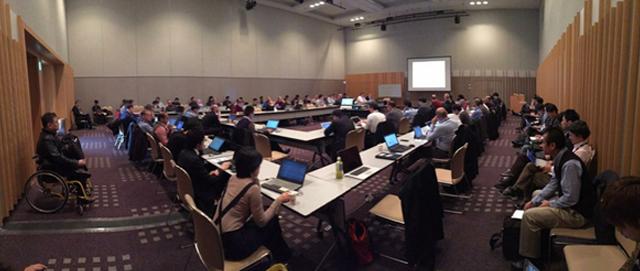 W3C 표준 기술 논의 중인 회의장 전경 (@TPAC 2015 Web Platform WG Meeting)