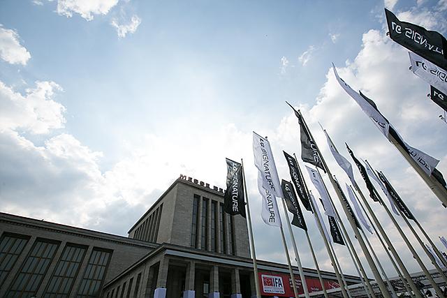 IFA 2016 현장에 설치된 LG 시그니처 깃발