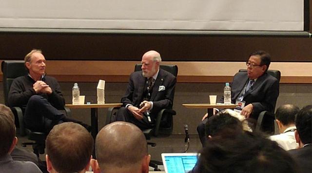 Web 창시자 Tim Berners Lee, Internet(TCP/IP) 창시자 Vint Cerf, 일본 인터넷의 아버지 Jun Murai