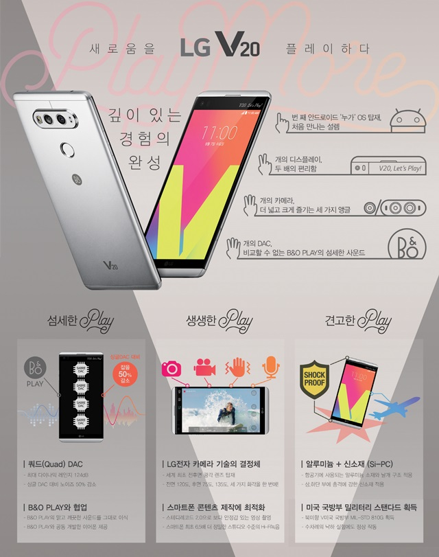 LG V20 인포그래픽