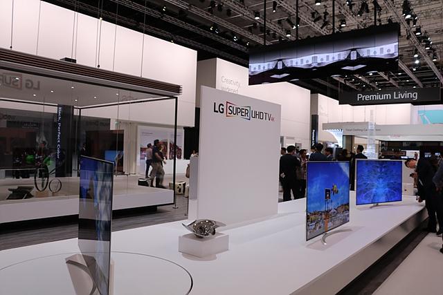 LG 전시관 내부 모습입니다.