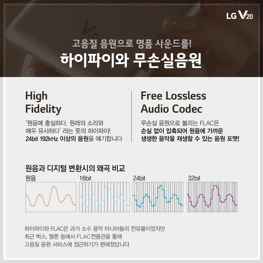 고음질 음원인 하이파이와 무손실음원 설명
