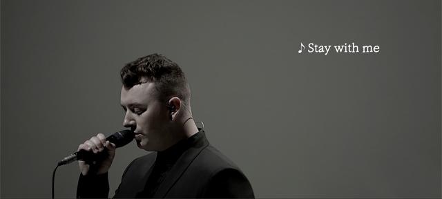 V20 광고에 등장한 샘스미스의 'Stay with me'