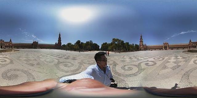 LG 360 캠으로 촬영한 세비야의 스페인 광장, 김태희가 출연한 LG싸이언 CF 촬영지