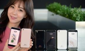 LG전자 모델이 프리미업급 사양을 적용한 보급형 스마트폰 'LG U'를 손에 들고 제품을 소개하고 있다. LG전자는 31일 'LG U'를 출시해 국내 보급형 시장을 적극 공략할 예정이다. 'LG U'는 LG유플러스 전용이다.