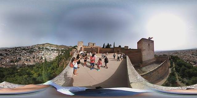 LG 360 캠으로 촬영한 알함브라 궁전의 전망대