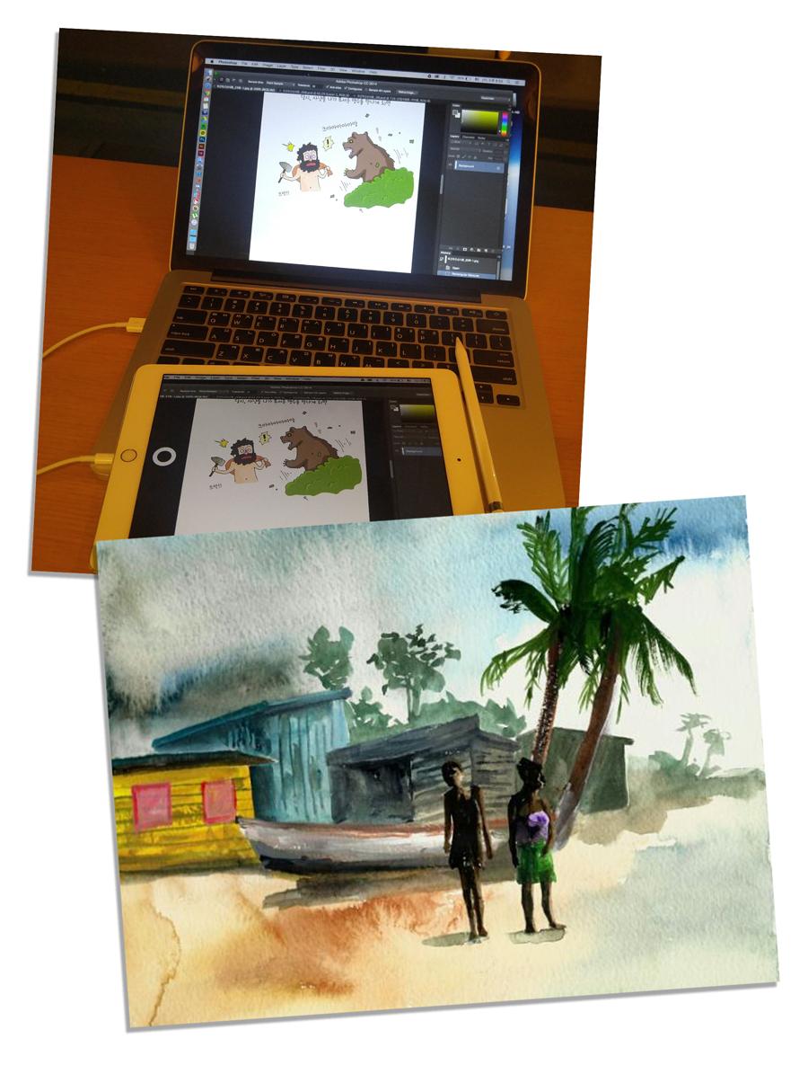 그림 그리는 것을 좋아하는 박민재 연구원