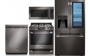LG 스튜디오의 블랙 스테인리스 스틸 시리즈 주요 제품