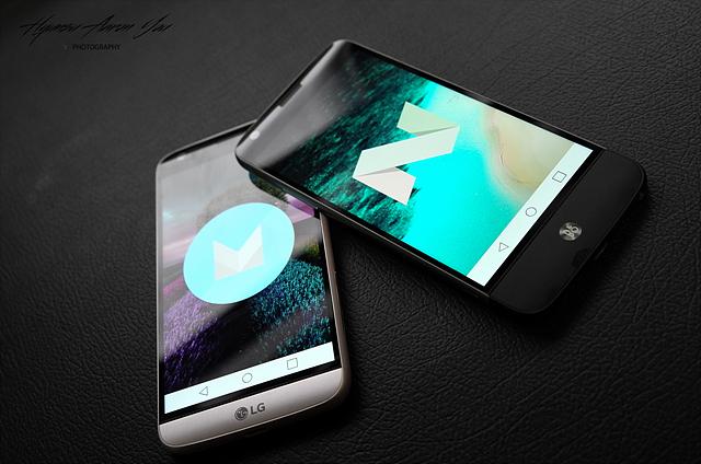 안드로이드 최신 OS 버전인 '안드로이드 7.0 누가(Android 7.0 Nougat)' 업그레이드를 실시한 LG G5