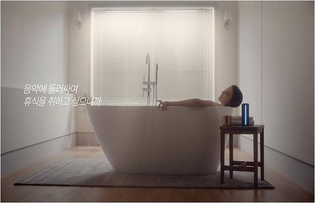 욕실에서도 사용 가능한 LG 포터블 스피커