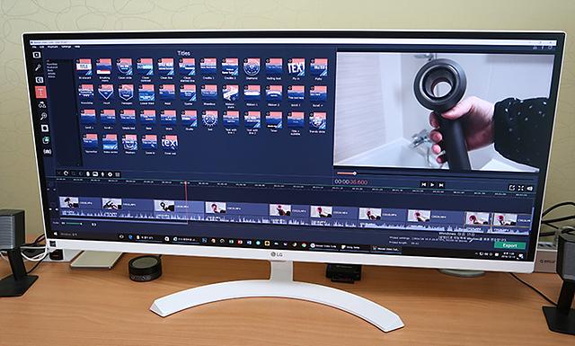 영상 작업에 편리한 LG 울트라와이드 모니터