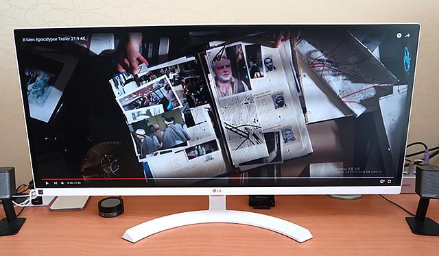 동영상을 보기에도 좋은 영상 작업에 편리한 LG 울트라와이드 모니터