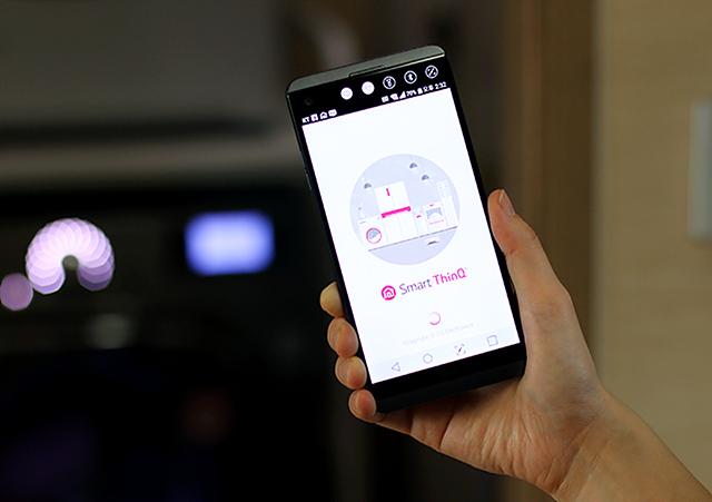 LG 스마트씽큐 앱 메인의 모습