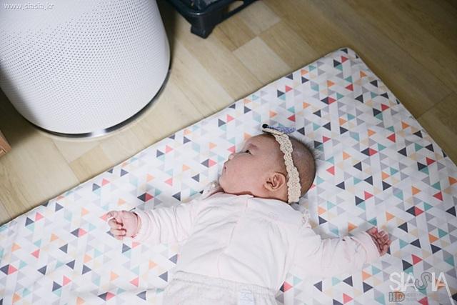 아기가 있는 가정에서 사용하기 좋은 LG 퓨리케어 360도 공기청정기