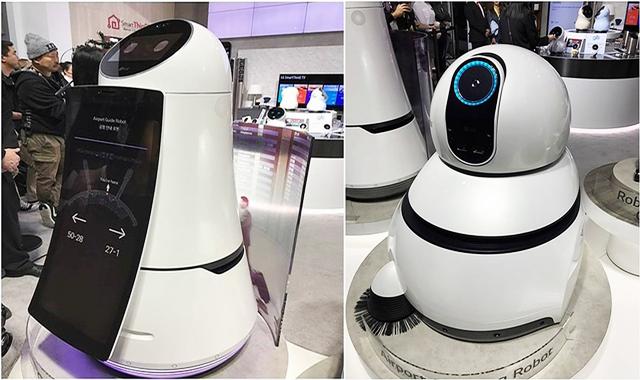 공항 안내로봇과 공항 청소 로봇