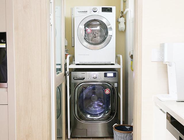 우수한 공간 활용 돋보이는 'LG 트롬 세탁기와 LG 트롬 전기식 건조기