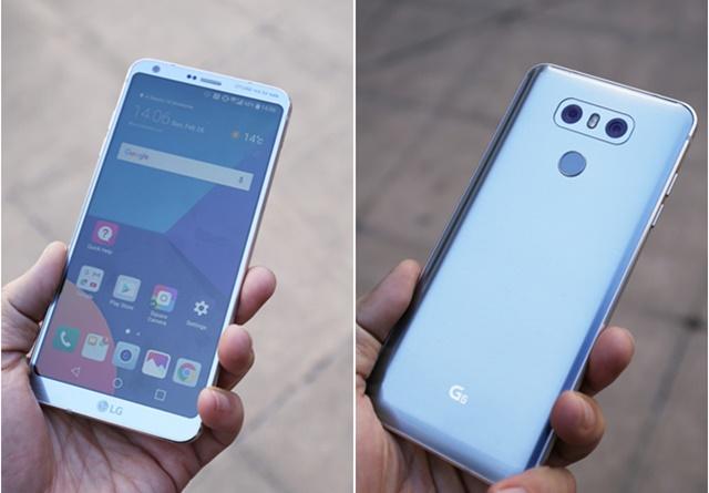 'LG G6' 전면과 후면