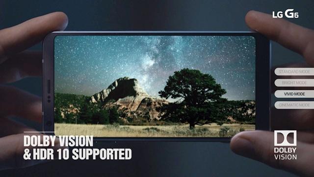 돌비 비전 등 HDR 규격 지원하는 'LG G6'