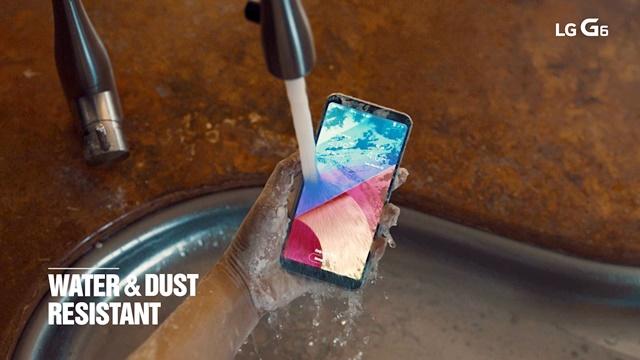 방수방진 기능 탑재한 'LG G6'