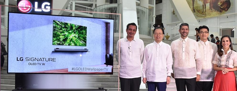 필리핀 국립박물관에 올레드 TV 기증