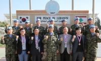 LG전자, 파병 10주년 레바논 '동명부대' 위문 방문