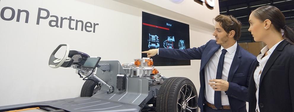 LG전자 프랑크푸르트 모터쇼 첫 참가, 차세대 자동차 부품 기술력 알린다