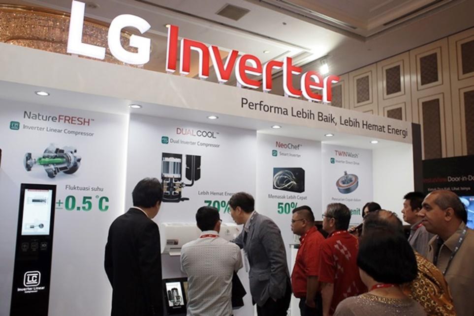 LG 인버터 전시