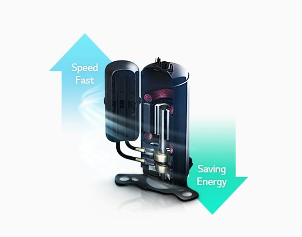 에너지는 절약하고 스피드는 빨라진 'LG 스마트 인버터 모터'