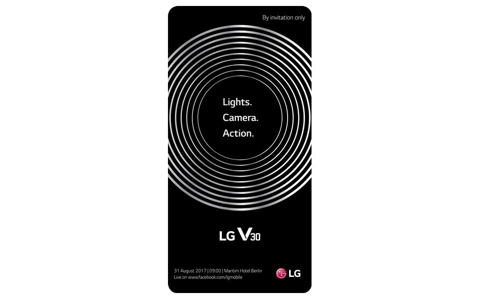 LG전자가 8일 세계 각국 기자들을 대상으로 차기 전략 스마트폰 'LG V30' 공개 행사 초청장을 발송했다. LG전자는 현지시각 31일 오전 9시 독일 베를린에 위치한 마리팀(Maritim) 호텔에서 LG V30를 공개한다. 공개 행사는 제품 설명과 체험 등 약 100분간 진행된다. 세계 각국의 기자, 비즈니스 파트너, IT 업계 관계자 등이 행사에 참석할 예정이다. LG전자는 이번 초청장에 18:9 비율의 스마트폰 화면 속에 카메라 렌즈를 형상화한 여러 겹의 은색 원형 이미지를 넣었다. 이는 LG V30에 18:9 풀비전 디스플레이와 강력한 성능의 카메라를 탑재했음을 의미한다.