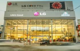 LG전자가 이라크 에르빌에 LG전자가 해외에서 운영하고 있는 브랜드샵 중 가장 큰 규모의 프리미엄 브랜드샵을 열었다. 브랜드샵 전경.