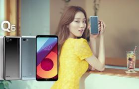 배우 이성경과 함께 한 'LG Q6' 광고 촬영 현장