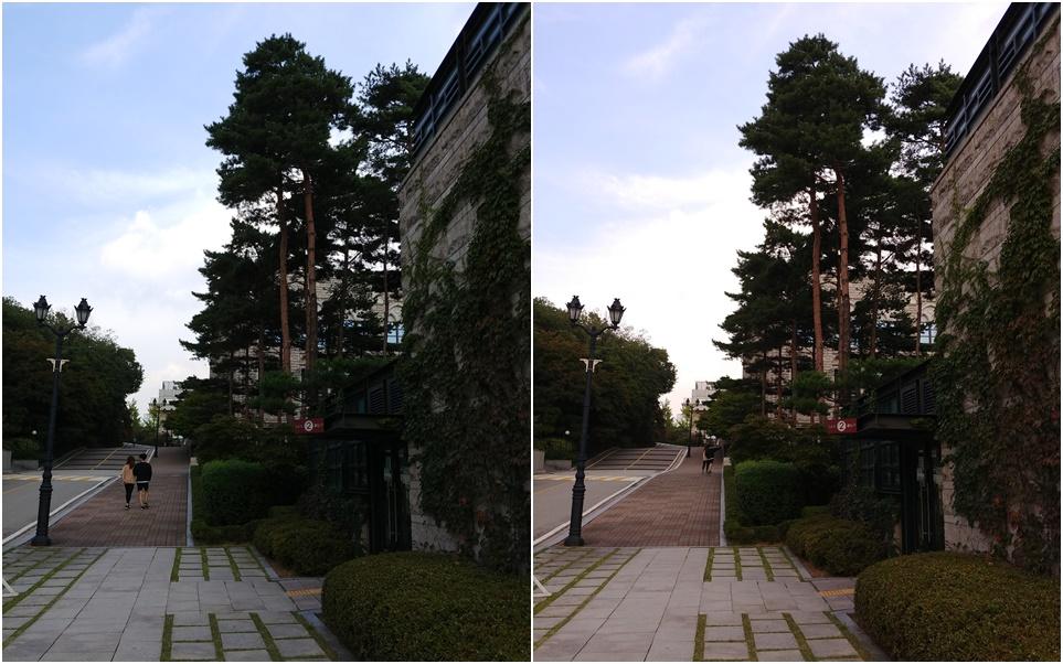 LG V30 카메라의 일반 모드와 그래피 모드로 담은 사진 비교