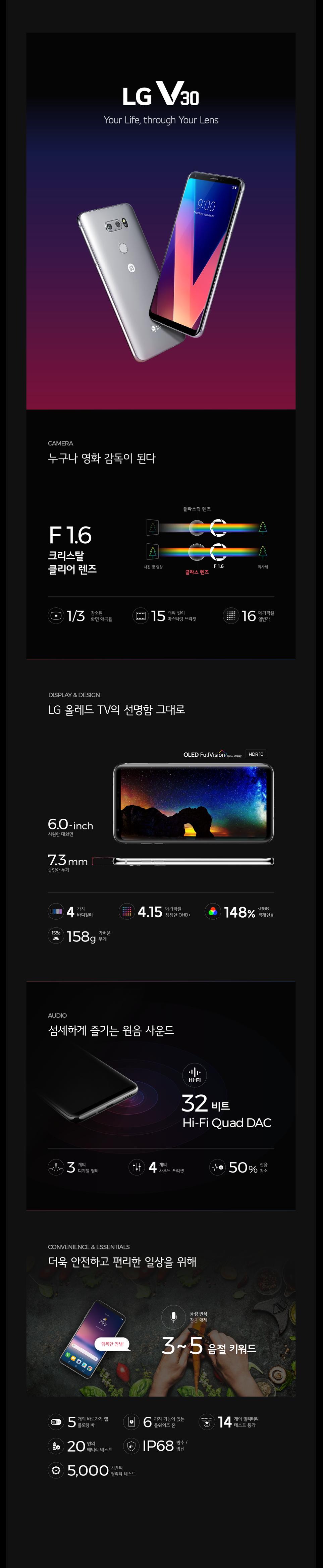 'LG V30' 인포그래픽
