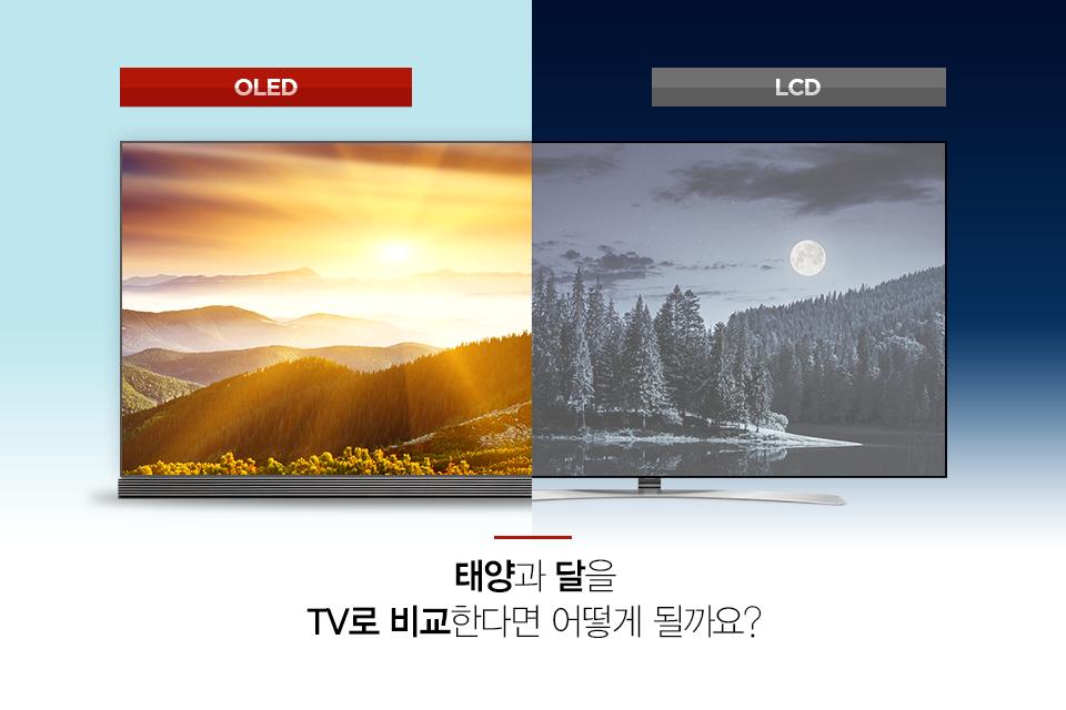 태양과 달을 TV로 비교한다면 어떻게 될까요?