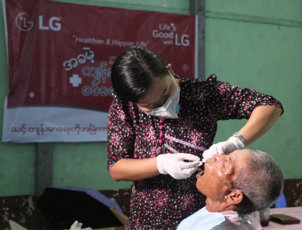 미얀마 낙후지역 파테인(Pathein)에 이동진료소 열어