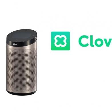 네이버 인공지능 플랫폼 '클로바'를 탑재한 LG전자의 인공지능 스피커 '씽큐 허브'