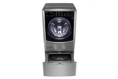 드럼세탁기 아랫부분에 통돌이 세탁기인 미니워시를 결합한 혁신 제품인 LG 트롬 트윈워시.