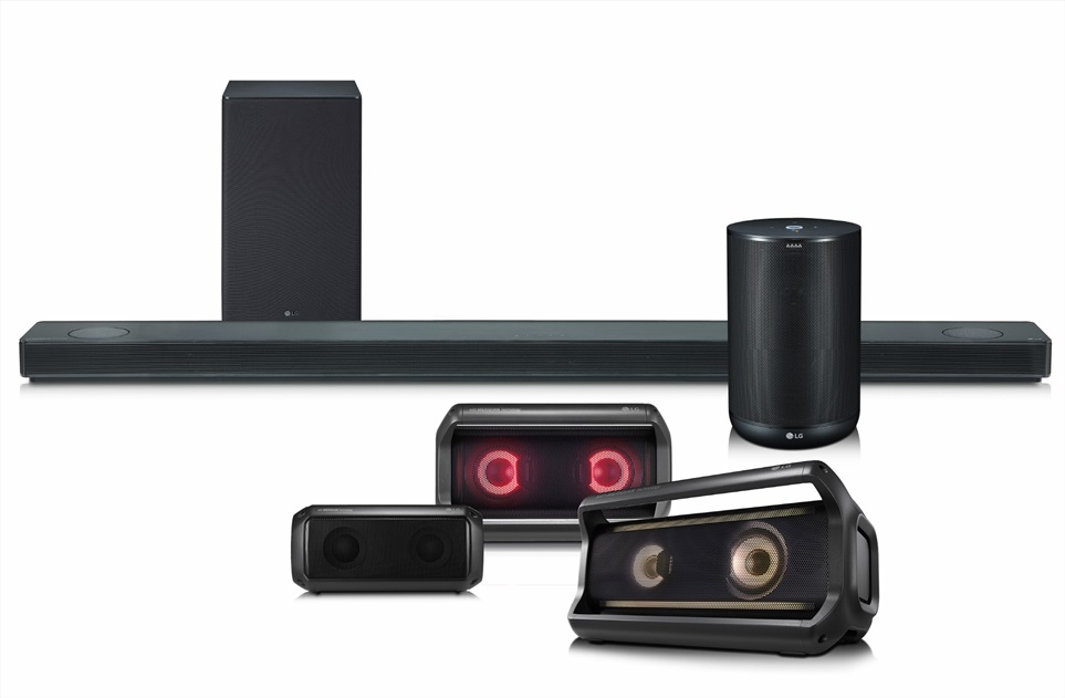 사운드바, 포터블 스피커, AI 스피커 등 2018년형 오디오 제품군